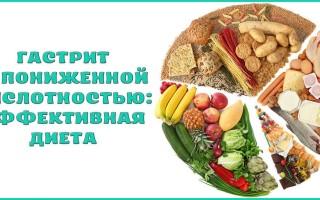 Правильная диета при гастрите с пониженной кислотностью