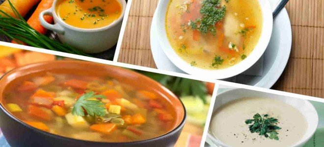 Рецепты диетических супов при гастрите