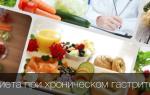 Особенности диеты при хроническом гастрите